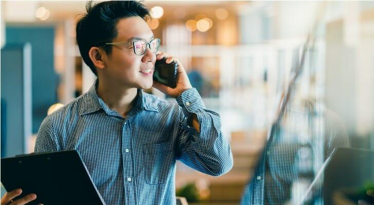 Asian male investor