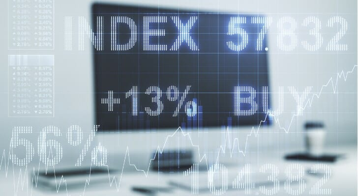 Abstract of a financial display
