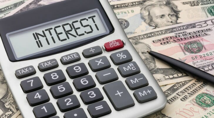 """Calculator with """"money interest"""" showing"""