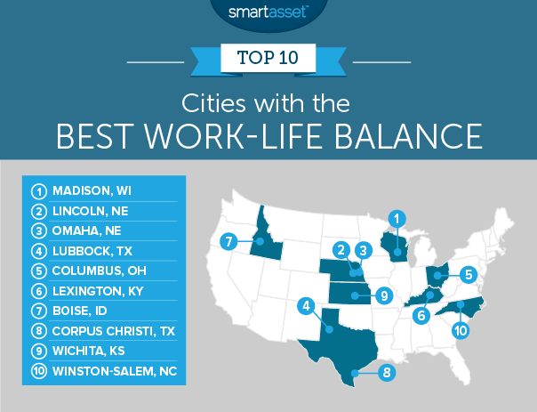 cities with the best work-life balance