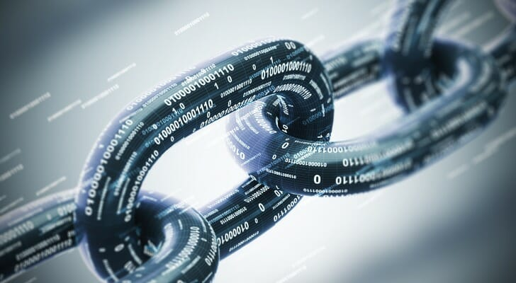 Picture of a diagonal blockchain