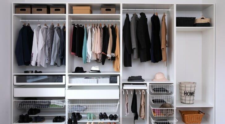 A closet full of clothes