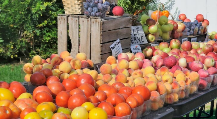 Traverse City, Mich., fruit stand