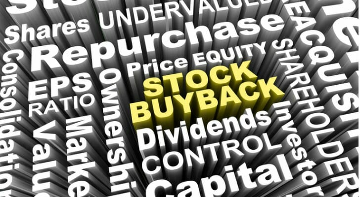 "Sign saying ""Stock Buyback"""