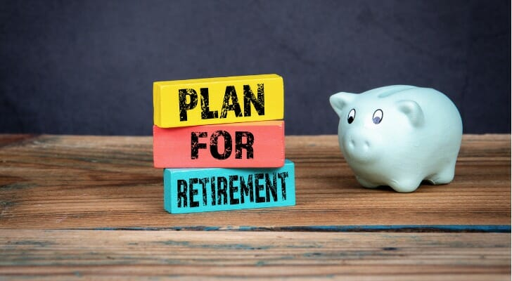 """""""PLAN FOR RETIREMENT"""" sign"""
