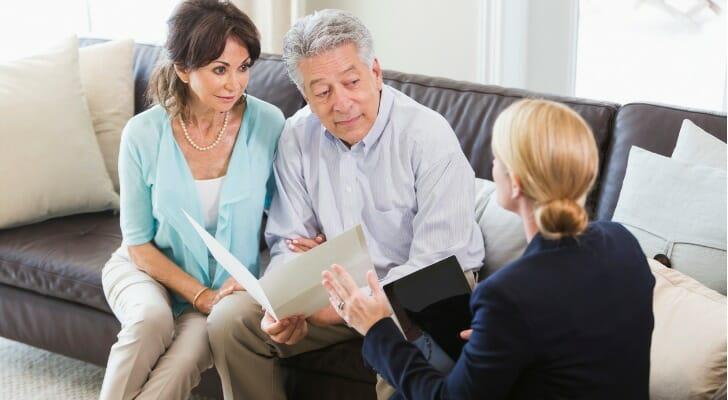 Senior couple talks with their CASL