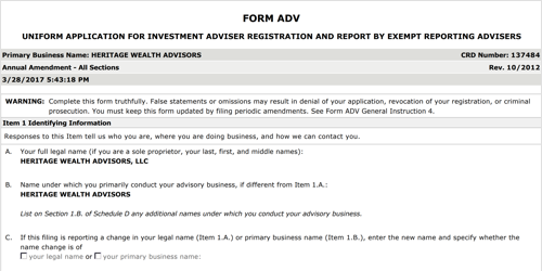 Form ADV: What It Is and How to Read It