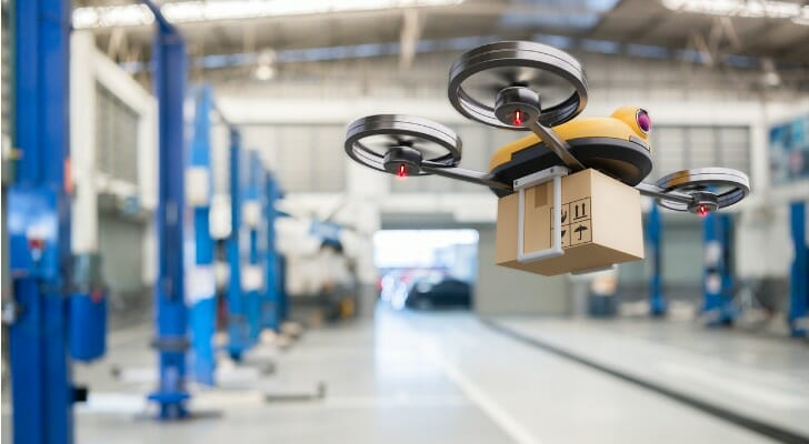 Drone delivery in operation