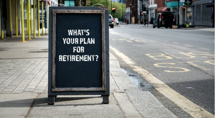 """Sign saying, """"What's Your Plan For Retirement?"""""""