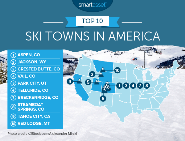 ski towns 2b map The Best Ski Towns in America 2016 Edition