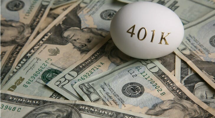 how does 401k work: a nest egg with 401k written in gold