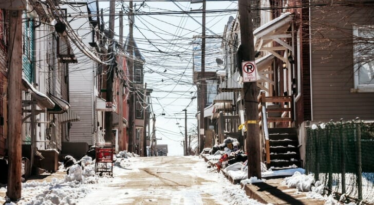 Low-income neighborhood in Allentown, Pa.