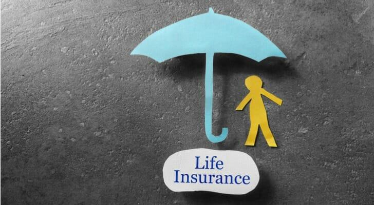 Life Insurance illustration using an umbrella