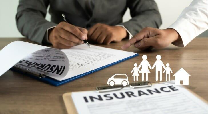 Life insurance documents.