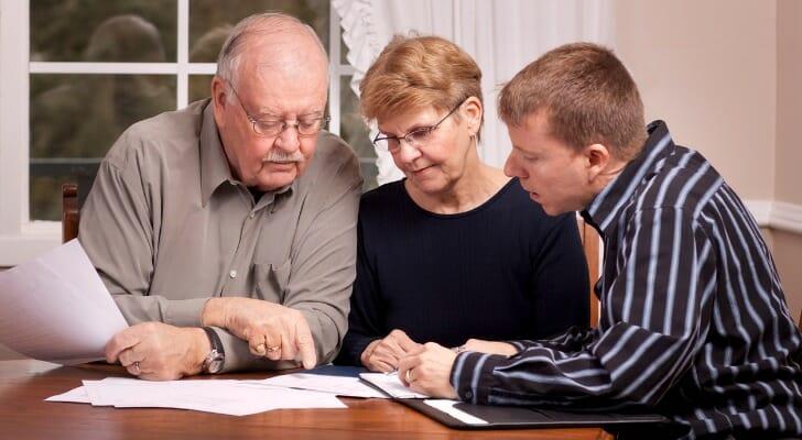Senior couple gets financial advice