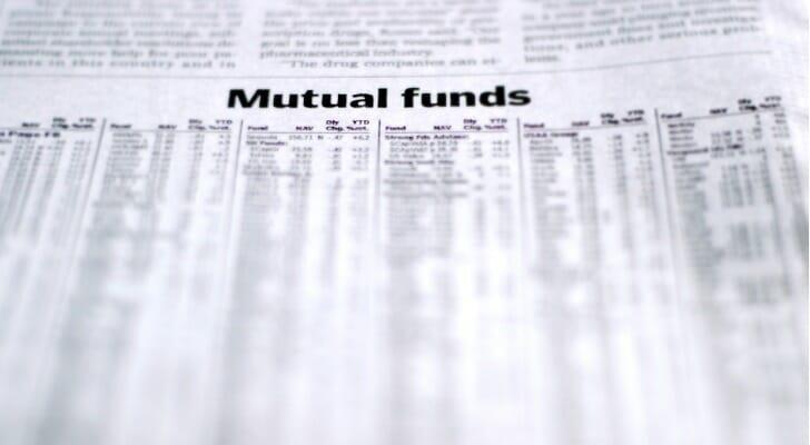 Mutual fund listings in a newspaper