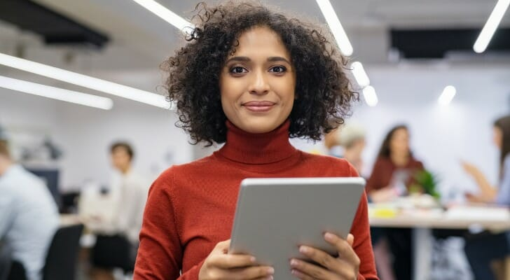 A young female entrepreneur
