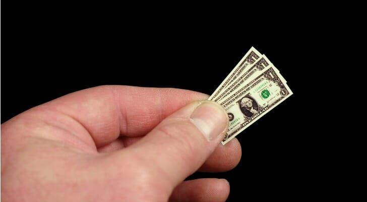 Shrinking dollar bills