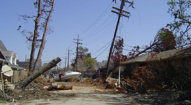 Damage from Hurricane Katrina