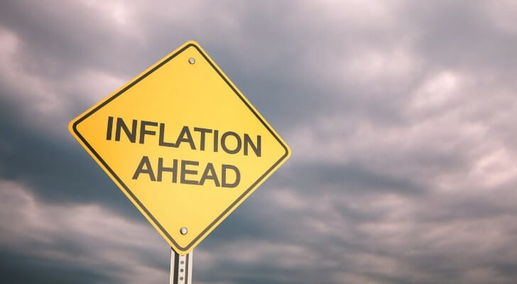 """Inflation Ahead"" sign"