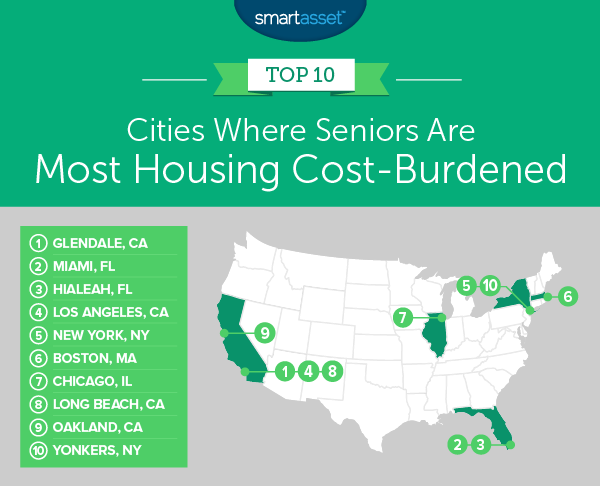 where seniors are housing cost-burdened