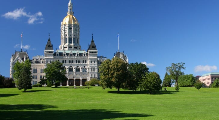 The Connecticut state capitol
