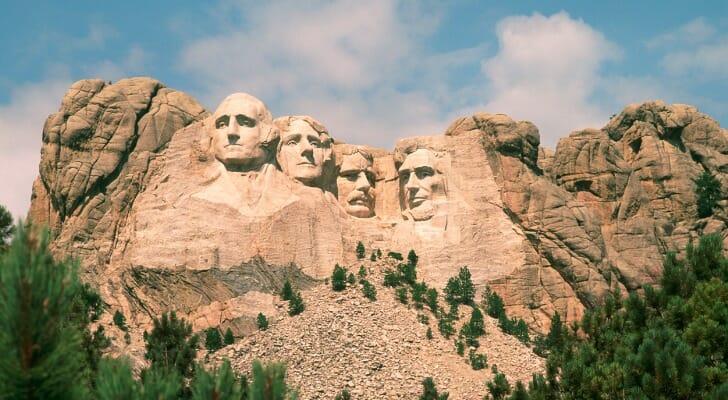 Mount Rushmore in the Black Hills of South Dakota