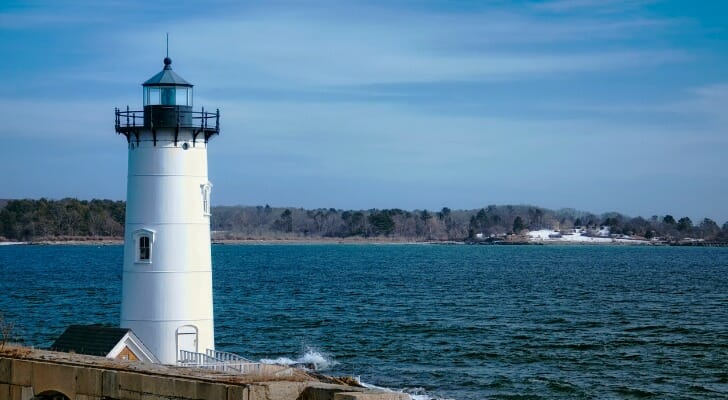 Lighthouse in New Castle, New Hampshire