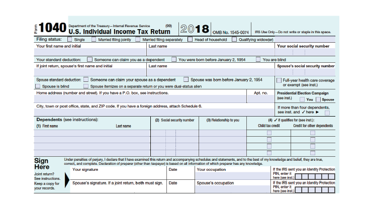 form 1040 example filled out 2018  How to Fill Out Your 7 Form (7-7) - SmartAsset