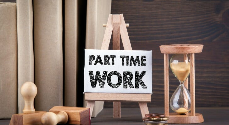 """Sign saying """"Part Time WORK"""""""