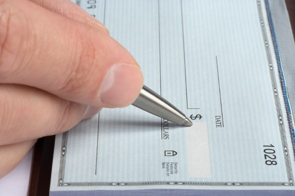 where is the account number on a check?
