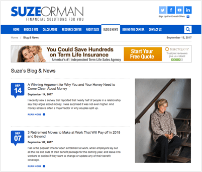 Suze Orman: Financial Expert Profile