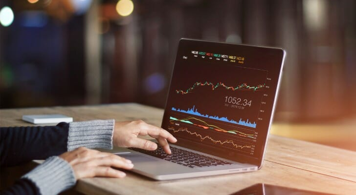 Stock order through online brokerage