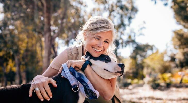 A dog can help ward off retirement depression.