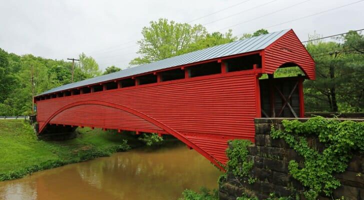 Barrackville Covered Bridge, West Virginia