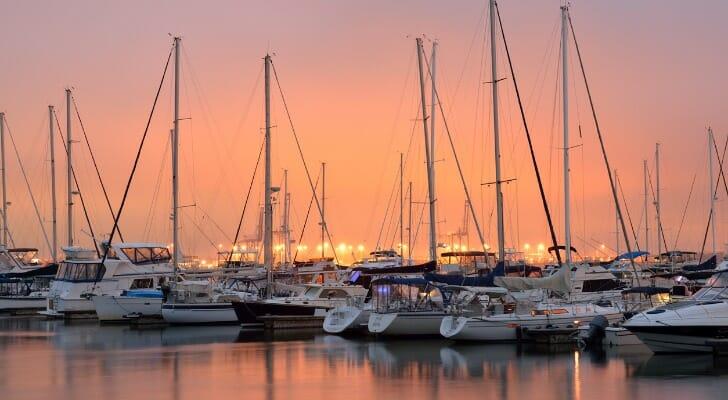 A marina in Charleston, South Carolina