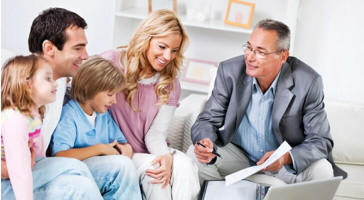 Family meets with an estate planning professional