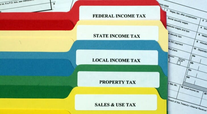 File folders for taxes