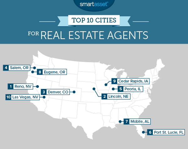 Top 10 Cities for Real Estate Agents