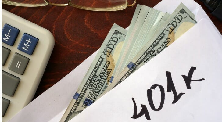 how does 401k work: envelope of cash designated for a 401k plan