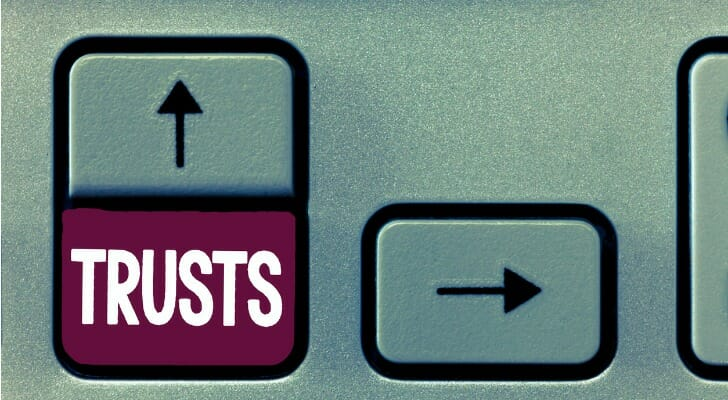"""Trusts"" on a keyboard"