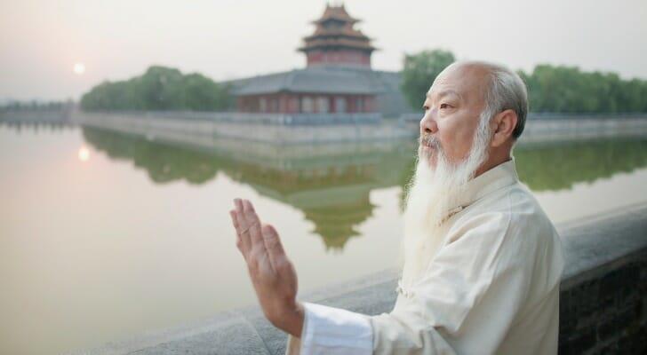 Retired Asian man