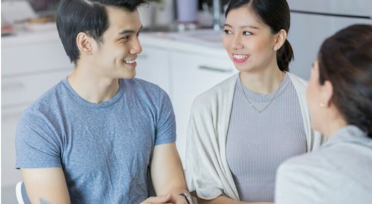 Couple in debt counseling session