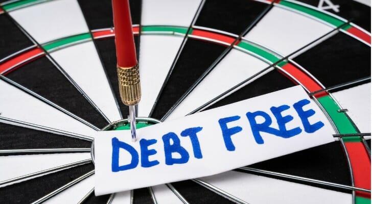 Debt free dartboard