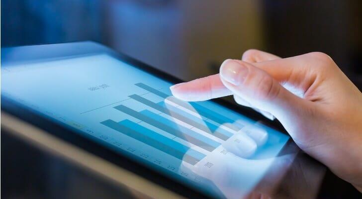 Businessperson calculates a quick ratio