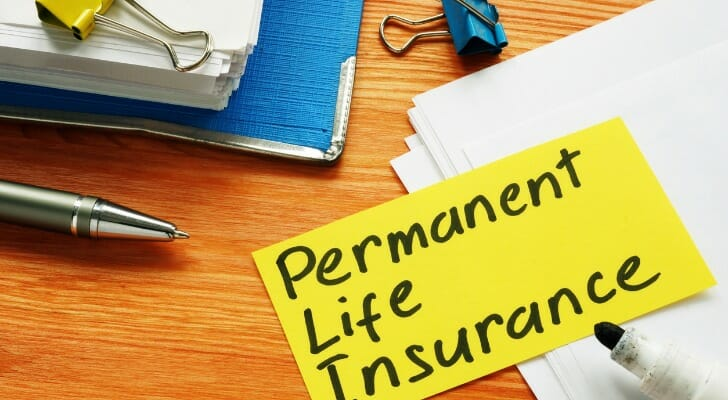 """""""Permanent Life Insurance"""" written on a piece of paper"""