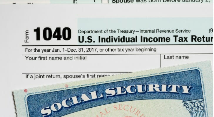 1040 and Social Security card