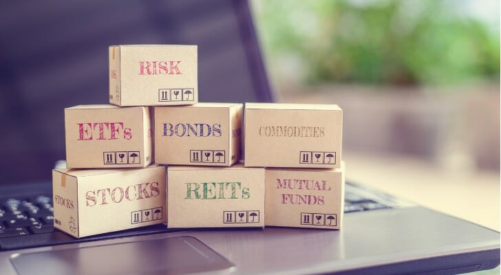 Blocks marked as various types of investable securities