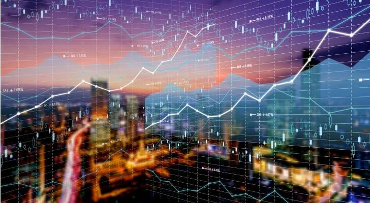 Stock price graphic