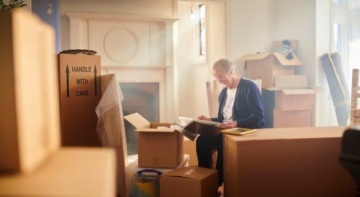 Spouse packs up after husband's death